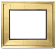 "CLASSIC MODERN STYLE PICTURE PAINT FRAME PLEIN AIR WOOD GOLD BLACK 3 1/4"" WIDE +"