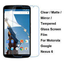Tempered Glass/Clear/Matte/Mirror Screen Protector For Motorola Google Nexus 6