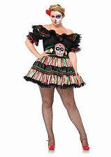 Day of the Dead Dia de Muerto Doll Dress Halloween Costume Adult Women PLUS SIZE