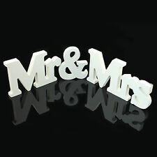 Wedding Reception Sign Mr & Mrs Solid Wooden Letters Table Centrepiece Decor