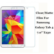 "Clear/Matte Screen Protector Film Guard Lot For Samsung Galaxy Tab 4 7.0"" T230"