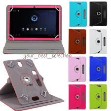 "360° Folio Universal Leather Case Cover For 7"" 8"" 9"" 10"" 10.1"" Android Tablet PC"