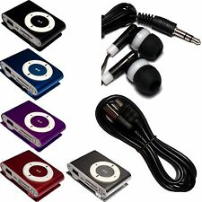 Mini Metal Clip on MP3 Player RB02 2GB 4GB 8GB up to 32GB Black Blue Red White