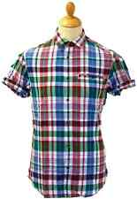 SALE! FARAH 1920 'THE GROVER' RELAXED CHECK SHIRT FESW0049 (GREEN) small - h161