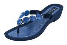 Grandco Women's Denim V Thong Sandals