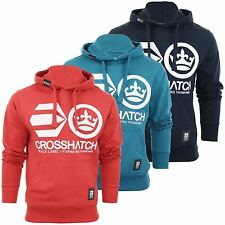 Mens Hoodie Jumper by Crosshatch 'Addswood' Logo Front