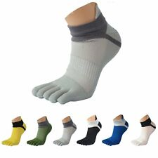 1 Pair Men's Mesh Socks Comfortable Cotton Sports Five Seperate Finger Toe Socks