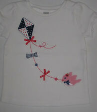 Gymboree Blooming Nautical Top 6 9 12 18 24 2T 3T 4T New Kite Shirt Girls White