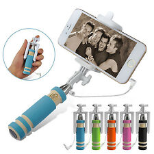 Mini Wired Selfie Stick Extendable Handheld Monopod Holder For iPhone Samsung