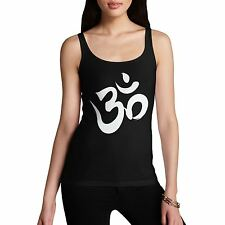 Twisted Envy Women's Om Sign Organic Cotton Tank Top