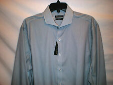NWT Kenneth Cole men's dress shirt slim blue 15 15.5 16 16.5 18 / 32 33 34 35