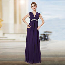 Sexy V-neck Sequined Purple Ruffles Long Party Evening Prom Dress 08220