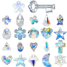 "Swarovski Pendants jewelry necklace making CRYSTAL AB (001 AB) ""Pick Your Shape"""