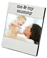 Personalised Silver Plated Me And My Mummy Photo Frame, Engraved Gift