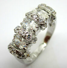 Jewelry Woman's White sapphire Wedding Ring in 10KT White Gold Filled Size:7/8/9