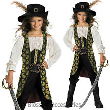 CK499 Pirate Deluxe Angelica Caribbean Girls Book Week Fancy Dress Up Costume