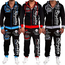 Mens Jogging Training Sports Suit Fitness Hoodie Jacket Track Sweat Trouser Pant
