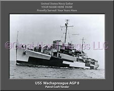 USS Wachapreague AGP 8 Personalized Canvas Ship Photo Print Navy Veteran
