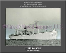 USS Picket AGR 7 Personalized Canvas Ship Photo Print Navy Veteran Gift