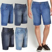 BNWT MENS DENIM JEANS SHORTS COMBAT CASUAL WASH KNEE LENGTH CARGO PANTS 30-38