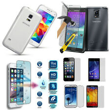 Explosion Proof Tempered GLASS Screen Protector LCD + Case TPU for Mobile Phone