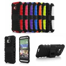 1PC New Hybrid Armor Rugged Hard Case Cover Stand Skin For HTC One M8