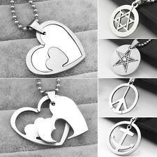 Women's Men's Stainless Steel Assorted Pendant Long Chain Charm Necklace Jewelry