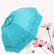 Umbrella Anti UV Sunscreen Rain&Sunny Windproof Strong Five layer lace