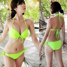 YellowGreen Women Bikini Set Hot Sexy Swimwear Push-up Padded Swimsuit Plus Size