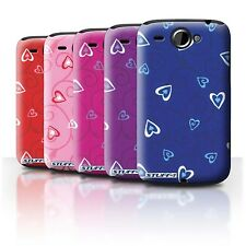STUFF4 Phone Case/Back Cover for HTC Wildfire/G8 /Heart/Vine Pattern