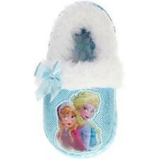 Disney Frozen ELSA & ANNA Toddler Slippers BLUE Girl Sizes 5/6 7/8 9/10 13/1-NWT