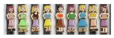Charm Chicks A 4 link 9MM Stainless Steel Italian Charm Doll Set