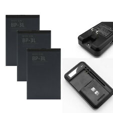 Li-ion Battery + Dock Charger For Nokia Lumia BP-3L 505 510 610 710 Asha 303 603