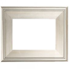 """3"""" WIDE CLASSIC MODERN STYLE PICTURE ART PAINT FRAME PLEIN AIR WOOD SILVER LEAF"""