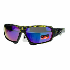 Xloop Mens Sunglasses Matted Rectangular Wrap Around Sports Fashion