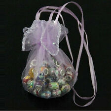 20/50/100pcs Purple Round Organza Jewelry Packing Pouch Wedding Favor Gift Bags