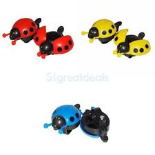 2PCS KIDS ADULT BICYCLE BIKE LADYBUG BELL RINGER CYCLE CYCLING RED BLUE YELLOW