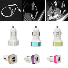 Portable Mini Dual USB Charger 2-Port Car Charger Universal For Samsung iPhone