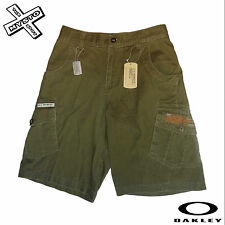 "OAKLEY 'DEPLOY SHORT' MENS SHORTS OLIVE GREEN 28"" SURF CARGO COMBAT BNWT RRP £43"