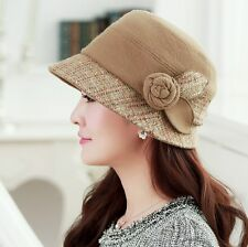 Women Ladies Bowler Hat Winter Warm Wool Cloche Felt Dress Hat Derby Church Hat