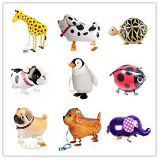 Kids Walking Pet Foil Balloon Animal Helium Fun Birthday Parties Decor Gift TBCA