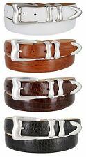 "Mens Genuine Leather Italian Calfskin Golf Sport Dress Belt, 1-1/8"" Wide"
