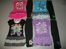 KNITWORKS TUNIC TOP & LEGGINGS SET OUTFIT HEART PEACE ROCK SKULL GIRL SZ L 12 14
