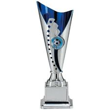 Personalised Silver & Blue Multi Sport Cup Trophy Award, Any Text Engraved Free