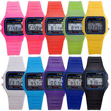 Unisex New Child Electronic LED Digital Multifunction Plastic Sport Wrist Watch