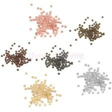 100x Flower/Snowflake/Daisy Rondelle Spacer Beads Charms 4mm-Gold,Silver,Bronze