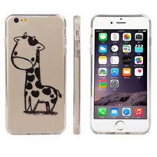 Giraffe Print Transparent Soft TPU Cover Soft Case For Apple iPhone6S/6S Plus