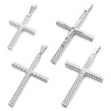 925 Sterling Silver Gorgeous Faceted Cross Pendant (Choose Cross)
