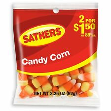 Brachs / Sathers Candy Corn American Candy Sweets 92g / 3.27oz Bag Halloween