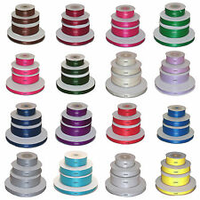 High quality double faced satin ribbon 3mm 10mm 16mm 25mm widths 2 Metre lengths